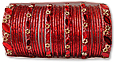 Glass Bangles- Red