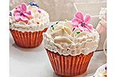 Floral Mini Cup Cakes- 6pcs