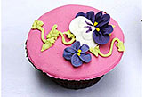 Pink Floral Cup Cakes- 6pcs