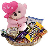Chocolates Basket with Teddy 01