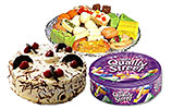 Quality Street Tin box and Mix Mithai (2KG) and Black Forest Cake (2lbs)