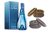 COOL WATER for women (100ml) and Metal Bangles