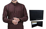Men Shalwar Kameez and Leather Wallet