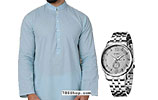 Men Shalwar Kameez and KWC Men Watch