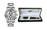 KWC for Men Watch and Mont Black Fountain Pen