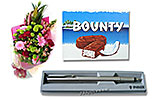 Multicolor Bouquet and Bounty and Parker Pen