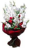 White Glads Bouquet