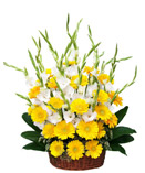 Yellow/White Flowers Basket