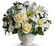 White Lilies and Roses Bunch