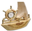 Marble Clock Ship- Beige