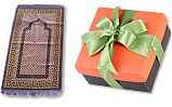 Prayer Rug (Jai Namaz) And Orange and Brown Square Box