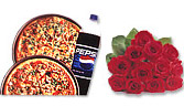 One Dozen Red Roses And Pizza Meal Deal 5
