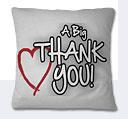 Thank You Cushion - White