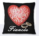 Valentine Day Fiancee Cushion - Black