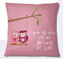 Valentine Day Cushion - Tea Pink