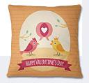 Valentine Day Cushion - Mustard