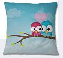 Valentine Day Cushion - Sky Blue
