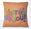 Thank You Cushion - Rust