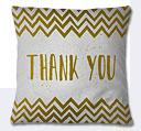 Thank You Cushion - White/Olive