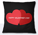 Valentine Day Hearts Cushion - Black/Red