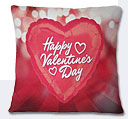 Valentine Day Heart Cushion - Red