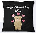 Valentine Day Bear Cushion - Black