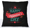 Valentine Day Cushion - Black