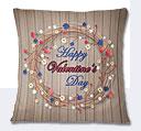 Valentine Day Wooden Theme Cushion - Beige