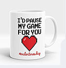 Pause My Game for You Valentine Mug