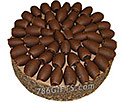 Brown Chocolate Truffle Cake- 6Lbs