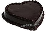 Heart Shape Chocolate Cake- 4Lbs