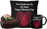 Heart Shaped Cake (Avari)- 2Lbs and Valentine Day Cushion and Valentines Day Mug