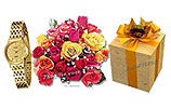 Women Watch and Two Dozen Mix Roses and LALs Chocolates