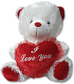 Teddy with heart- Large