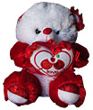 White/Red Teddy with Heart