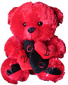 Red/Black Teddy with Heart