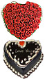 Heart Shaped Cake And Flower Arrangment