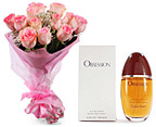 One Dozen Roses And OBSESSION For Women by CALVIN KLEIN (100 ml)