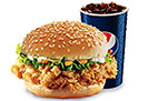 Krunch Burger with Drink (2 person)